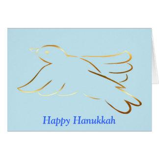 Happy Hanukkah with peace dove custom text Card