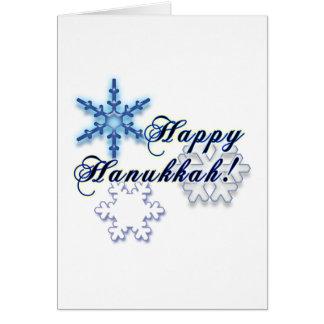 Happy Hanukkah with Snowflakes Card