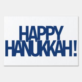 Happy Hanukkah! Yard Sign