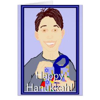 Happy Hanukkah (Young Man) Greeting Card