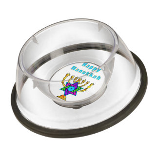 Happy Hanukkah Pet Bowl