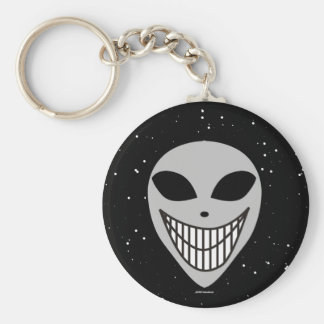 Happy Happy Alien race science fiction smiley face Keychain