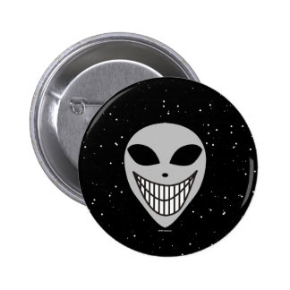 Happy Happy Alien race science fiction smiley face Pinback Button