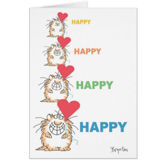 HAPPY HAPPY CAT Valentines by Boynton Card