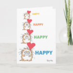 HAPPY HAPPY CAT Valentines by Boynton Holiday Card