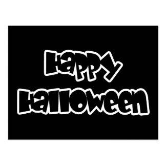 Happy Happy Halloween Postcard