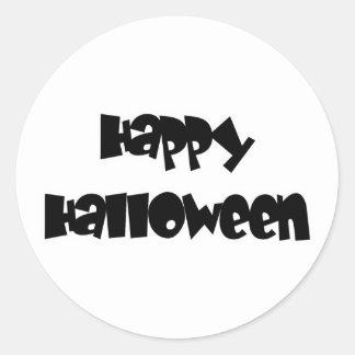 Happy Happy Halloween Round Sticker