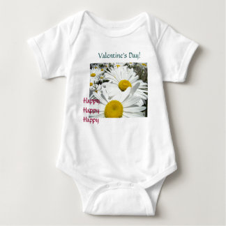 Happy Happy Happy Baby Toddle Valentines Day Baby Bodysuit