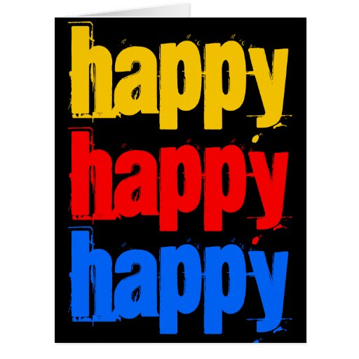 Happy Happy Happy Big Birthday Card 8 x 11