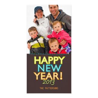 Happy Happy Happy New Year Photo Card Greeting