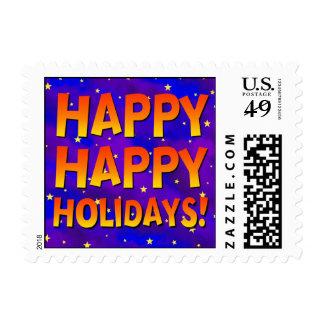 Happy Happy Holidays Postage