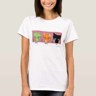 happy.happy.meh kitties - version 2! T-Shirt