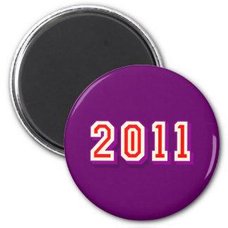 Happy Happy New Year 2011 Logo gift Magnets