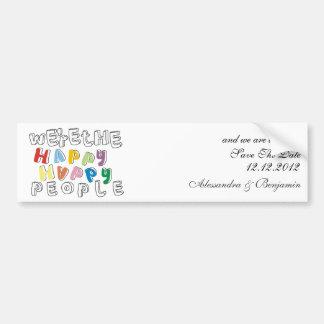 happy happy people STD Bumper Sticker