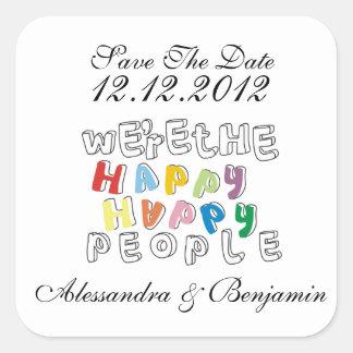 happy happy people STD Square Sticker