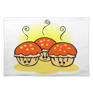 Happy Happy Sad Muffins Cloth Placemat