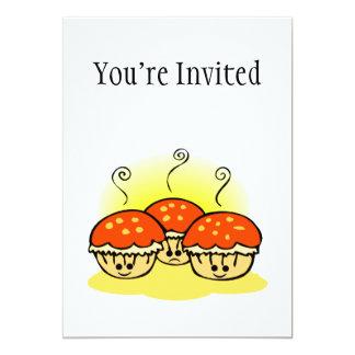 "Happy Happy Sad Muffins 5"" X 7"" Invitation Card"