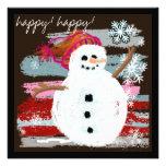 happy! happy! Snowman Announcement