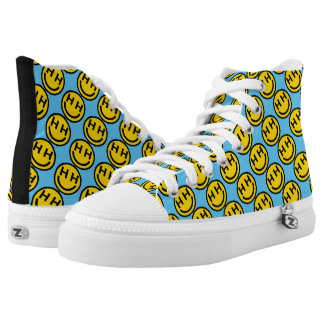 Happy Hardcore Smiley Face Shoes Printed Shoes