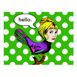 Happy Harpy Anthropomorphic Bird Girl Postcard