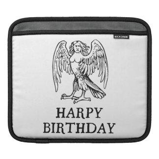 Happy Harpy Birthday iPad Sleeves