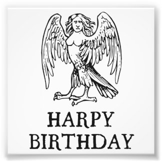 Happy Harpy Birthday Art Photo