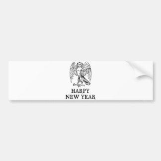 Happy Harpy New Year Bumper Sticker
