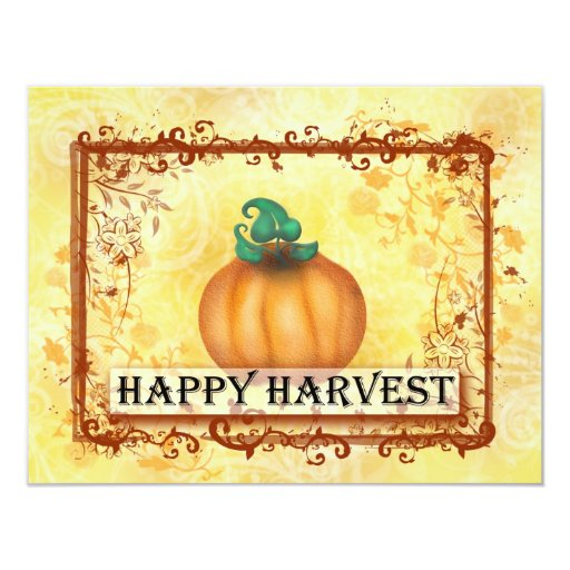 Happy Harvest 4.25x5.5 Paper Invitation Card
