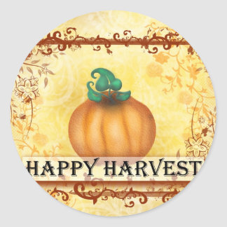 Happy Harvest Classic Round Sticker