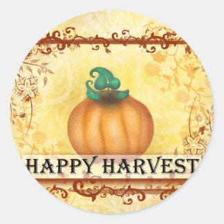 Happy Harvest Classic Round Sticker