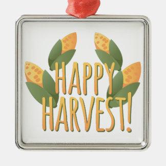 Happy Harvest Metal Ornament
