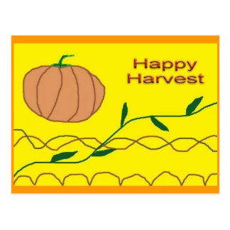 Happy Harvest Postcard