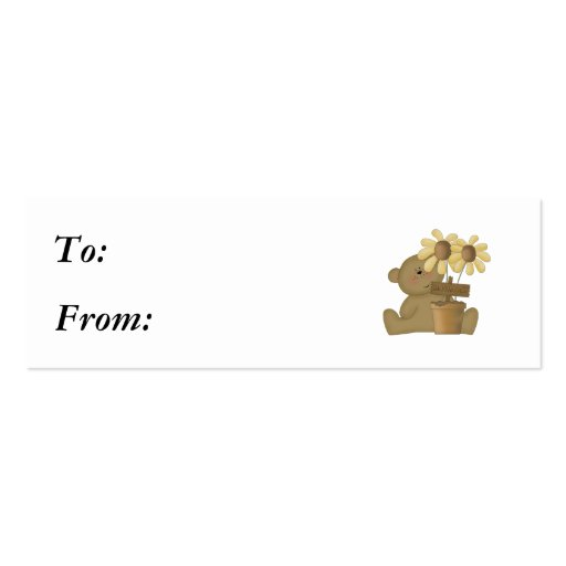 happy harvest teddy bear Double-Sided mini business cards (Pack of 20)