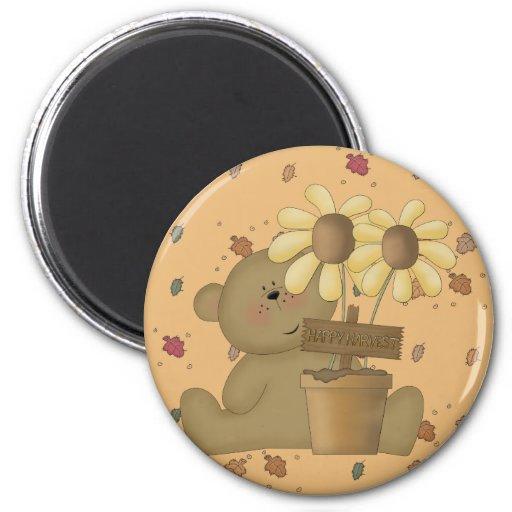 happy harvest teddy bear fridge magnets