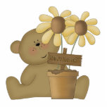 happy harvest teddy bear photo sculpture