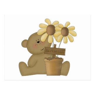 happy harvest teddy bear postcards