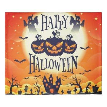 Halloween Themed Happy Haunted Halloween Duvet Cover