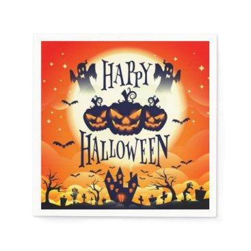 Halloween Themed Happy Haunted Halloween Napkin