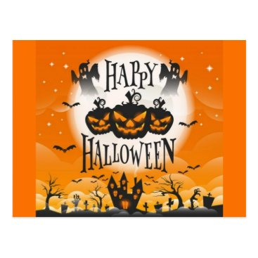Happy Haunted Halloween Postcard
