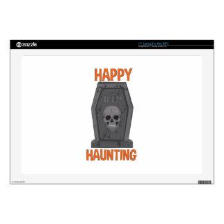 "Happy Haunting 17"" Laptop Skin"