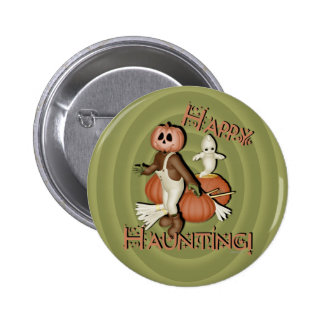 Happy Haunting Button