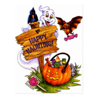 Happy Haunting Postcard