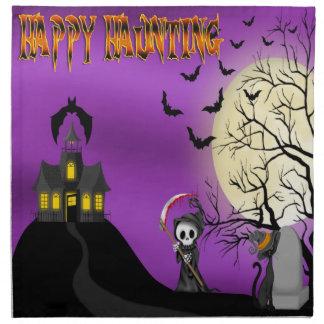 Happy Haunting Reaper Cloth Dinner Napkins