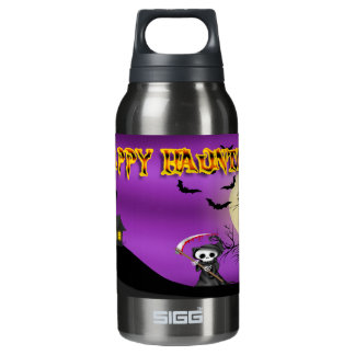 Happy Haunting Reaper Insulated Water Bottle