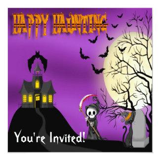 Happy Haunting Reaper Invitations