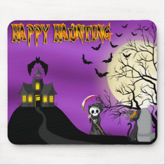 Happy Haunting Reaper Mouse Pad