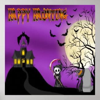 Happy Haunting Reaper Poster/Print Poster