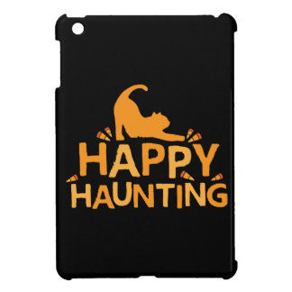 happy haunting with cat and corn iPad mini case