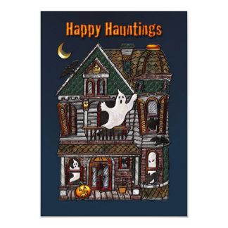 Happy Hauntings - Haunted House Invitation