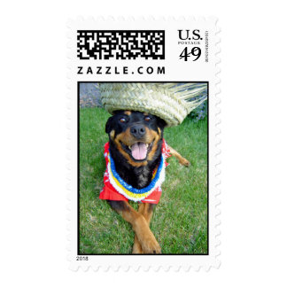 Happy Hawaiian Dog Stamp